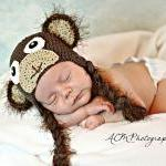 Crochet Monkey Hat Newborn ..