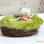 Crochet Sleepy Owl Hat Newb..